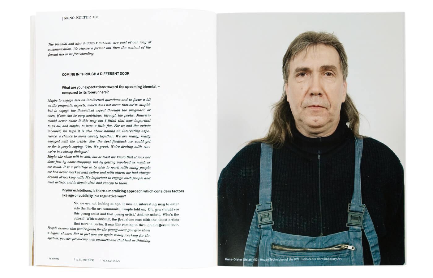 mono.kultur #05, Maurizio Cattelan, Massimiliano Gioni, Ali Subotnick: Falling And Walking Ahead