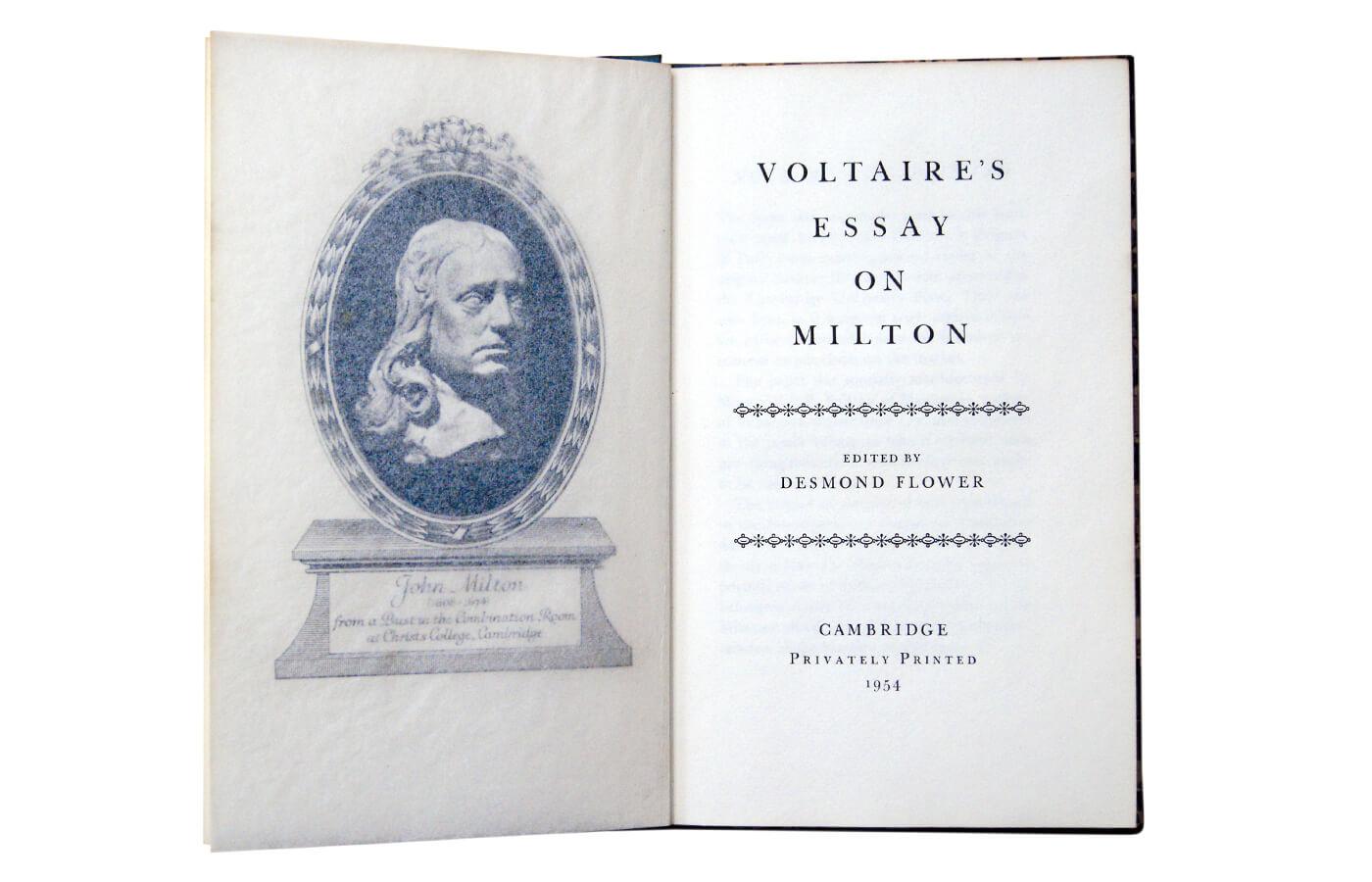 Voltaire's Essay on Milton