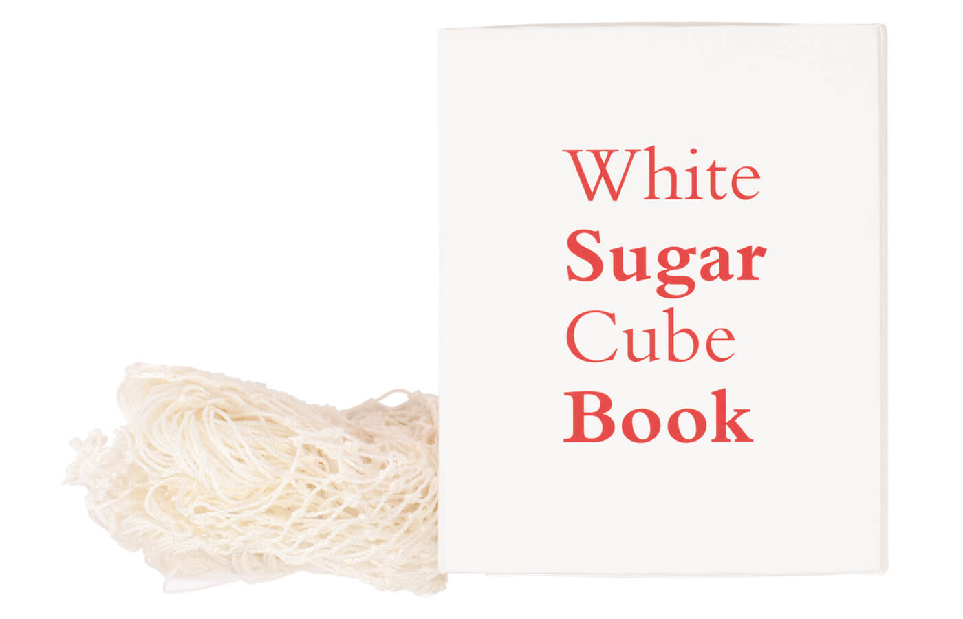White Sugar Cube Book