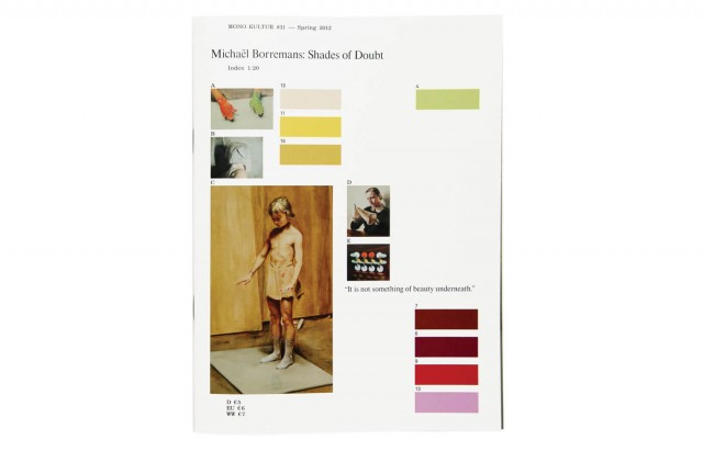 mono.kultur #31, Michaël Borremans: Shades Of Doubt