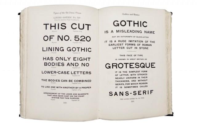 Types of The De Vinne Press