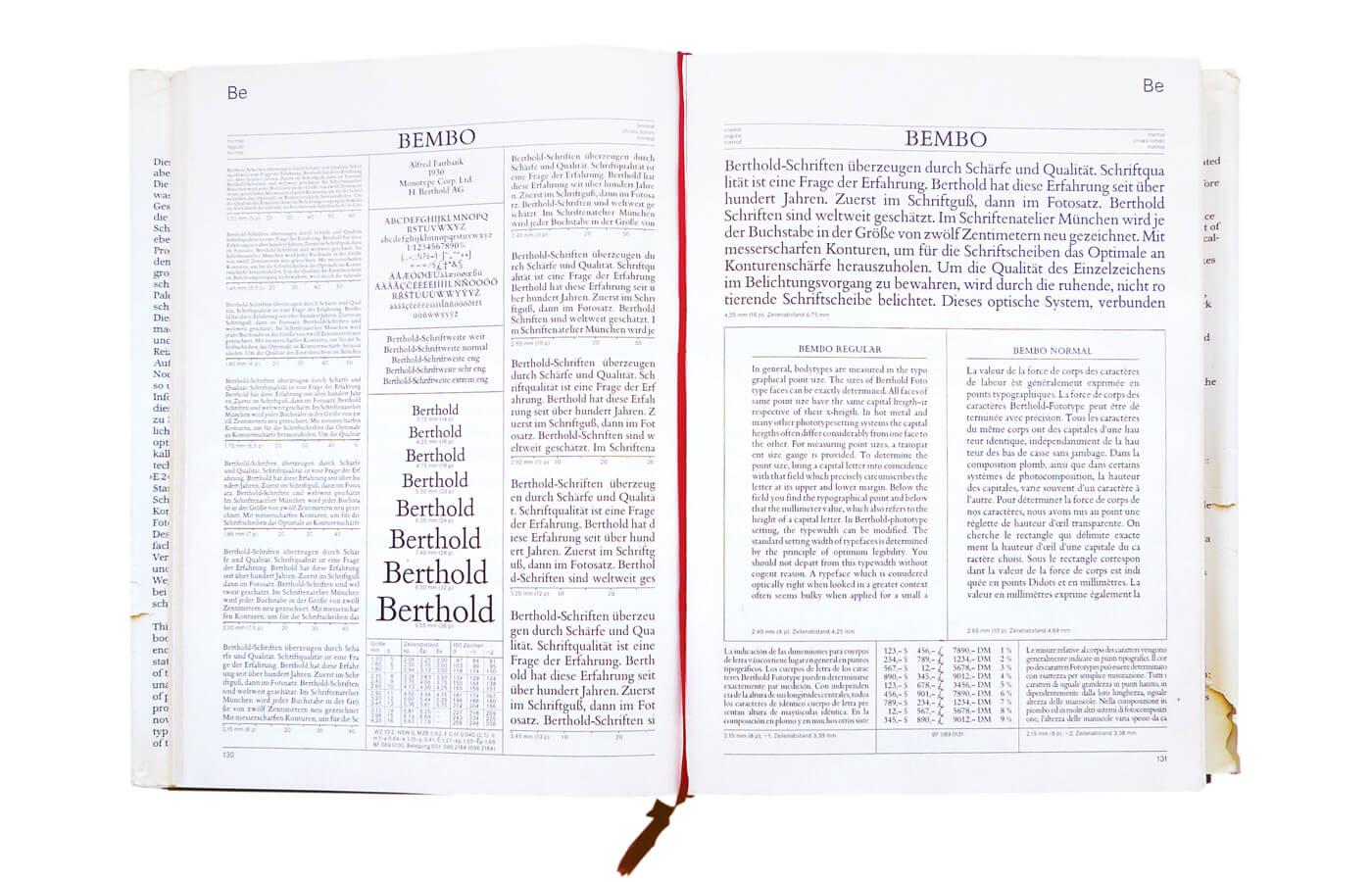 E2 Berthold Fototypes Body Types Vol. 1: Synopsis, Katalog, Layouts (577 typefaces)
