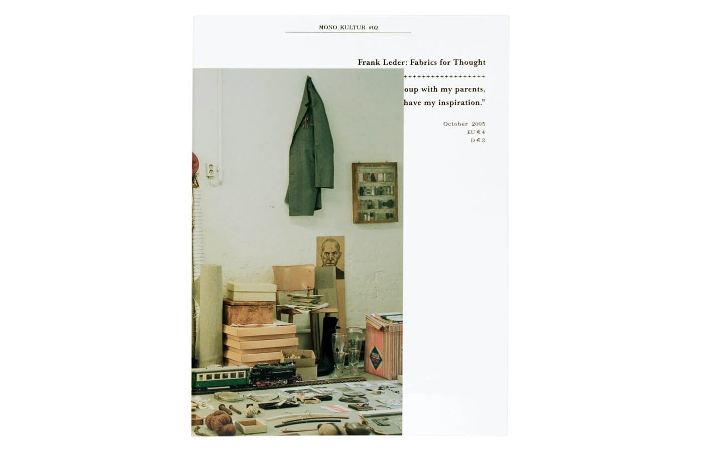 mono.kultur #02, Frank Leder: Fabrics For Thought