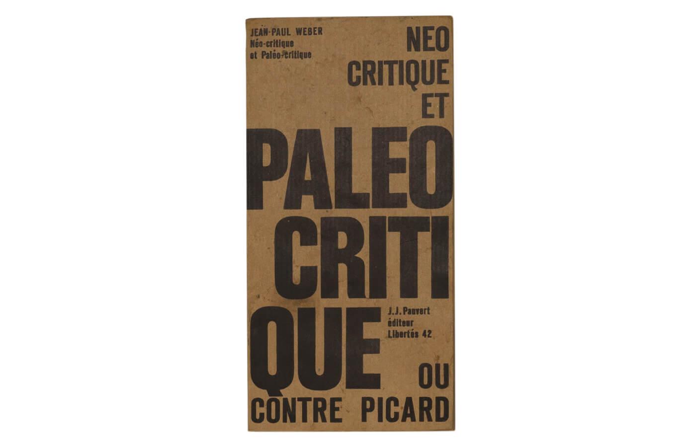 Néo-critique et Paléo-critique