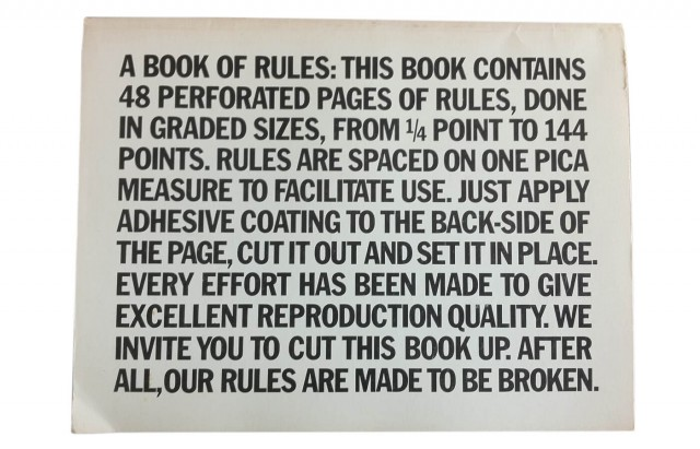 A Book of Rules