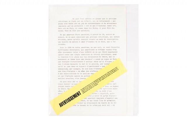 manuscrit trouvé