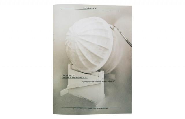 mono.kultur #15, Taryn Simon: Kaleidoscope Of Entropy