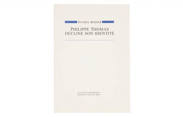 Philippe Thomas décline son identité