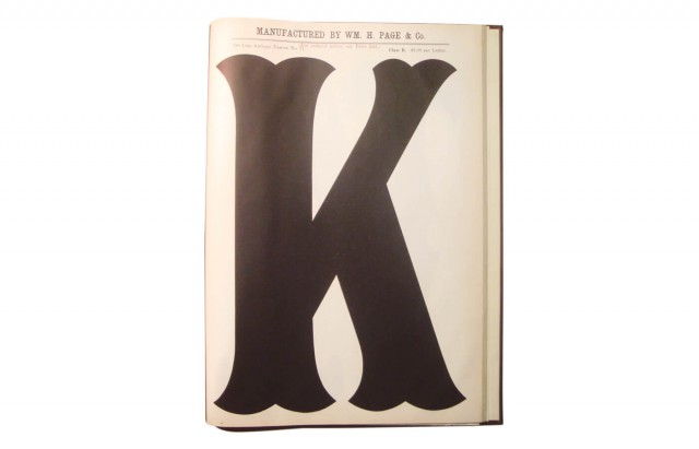 Poster Specimens from the Wm H Page Wood Type Co