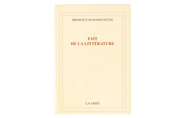 Présence Panchounette fait de la littérature