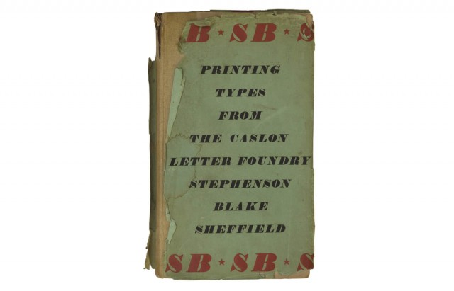 Specimens of Printing Types from Stephenson Blake  1953